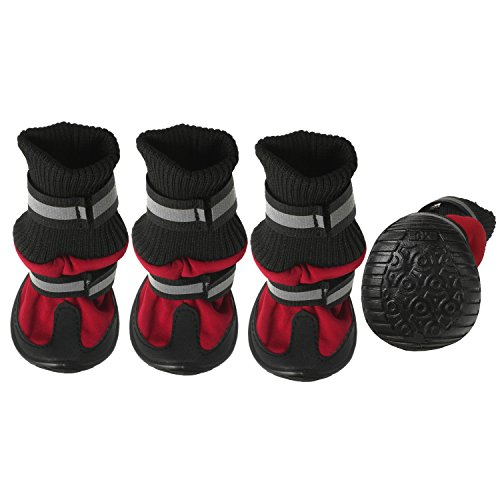 Paw Tech All Weather Dog Boot, Large, Red by American Kennel Club (Image #1)