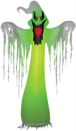 Airblown Haunted Ghost With Light Outdoor Halloween Decoration