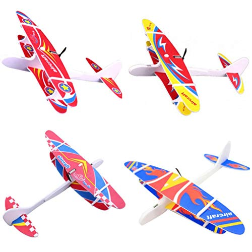 zzpopGG Kids Toys,Glider,Hand Throwing Plane,Electric Hand Throw Foam Plane DIY Assembled Motor Glider Model Kids Toy Gift - B02# ()