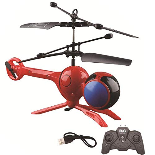 Fly Rc Dragonfly - SQSAY Fly Dragonfly RC Helicopter, 3 CH Mini Remote Control Dragonfly Helicopter Night Flying Available Flying Toys (Red/White),Red