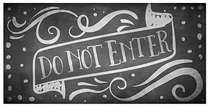 Do Not Enter 5-Pack Stripes White Window Cling 18x12 CGSignLab