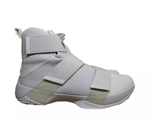 Nike Mens Lebron Soldier 10 Basketball Shoes (10, Light Bone/Light Bone)