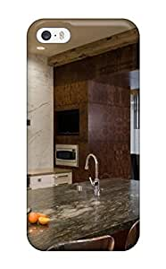 AndreaPope Perfect Tpu Case For Iphone 5/5s/ Anti-scratch Protector Case (wood Paneling Adds Warmth To Modern Kitchen)