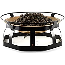 Camco 29-Inch Portable Deluxe Outdoor Fire Pit, 65,000 BTU's, Includes 10 Foot Propane Hose