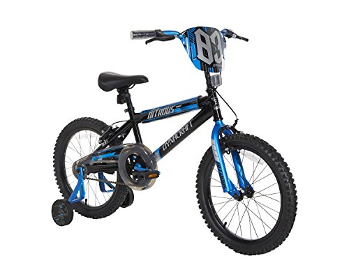 Dynacraft Boys Nitrous Bike, Black/Blue, 18""