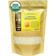 Sky Organics USDA Organic White Beeswax Pellets (1lb) Pure Bees Wax No Toxic Pesticides or Chemicals - 3 x Filtered, Easy Melt Pastilles- for DIY, Candles, Skin Care, Lip Balm