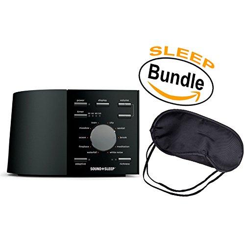 Adaptive Sound Technologies ASM1002 Sound+Sleep - Sleep Therapy Machine, 10+ Natural Sounds & White Noise, Black & Sleepy Eyez Lightweight Black Sleeping Mask (Sleep Bundle) -  ASM1002 Sound+Sleep / Sleeping Mask