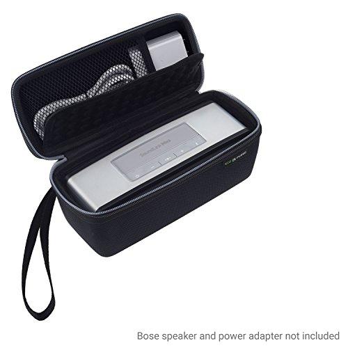 Eco-Fused Estuche para llevar y TPU Cubierta diseñado para Bose Soundlink Mini 1 y 2 - proteger y transportar – Burbuja acolchado para el altavoz – Bolsillo de malla – Correa para la muñeca