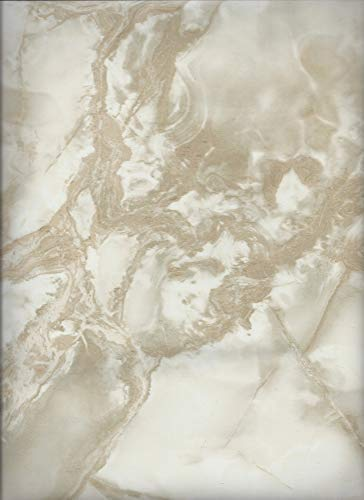 Instant White Caramel Riviera Marble Self Adhesive Vinyl Counter top Contact Paper Peel and Stick 36