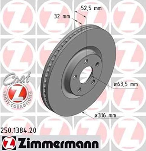 ZIMMERMANN Bremsscheibe 250.1384.20