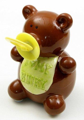 IWGAC 049-11656 3.75W x 5.5H x 4D Ceramic Teddy Bear Binky Money Bank by IWGAC Ceramic Collectible Teddy