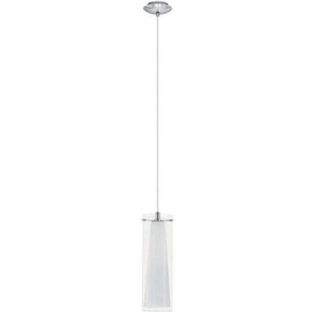 Eglo Pinto 1-Light 59 in. Hanging Chrome Mini Pendant