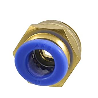 """10mm Tube Pneumatic Straight Quick Coupling 1/2"""""""" PT Thread Brass Connector"""