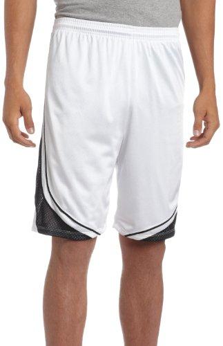 "Asics Men's Player 10"" Volleyball Running Short,White/Bla..."