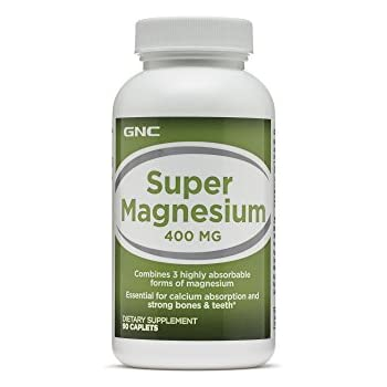 GNC Super Magnesium 400mg with 3 Highly Absorbable Forms of Magnesium for Bone Tooth Strength