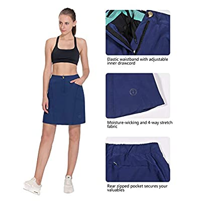 Little Donkey Andy Women's Athletic Skort Build-in Shorts with Pockets UPF 50+ Golf Tennis Sports Casual Skirt: Clothing