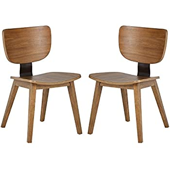 Rivet Ian Modern Wood Dining Chair Pack of 2 Brown  sc 1 st  Amazon.com & Amazon.com - Rivet Mid-Century Modern Low-Back Dining Chair 30