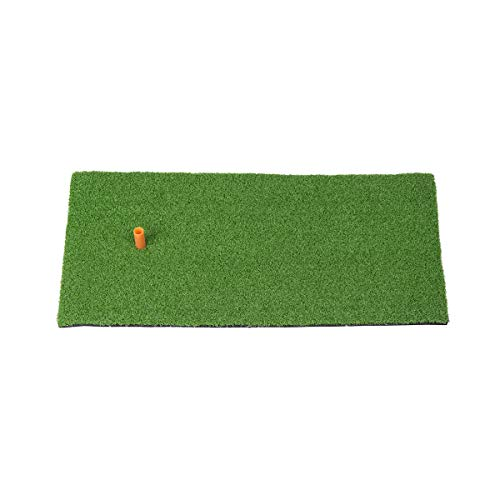 SkyLife Golf Mat 12''x24'' Residential Practice Hitting Grass Mat with Removable Rubber Tee Holder, Home Backyard Garage Outdoor Practice