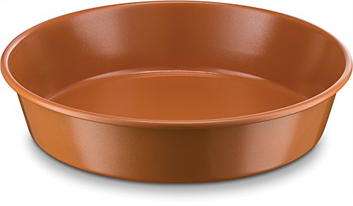 Copper Round Dish - Ceramic Coated Baking Pan 9