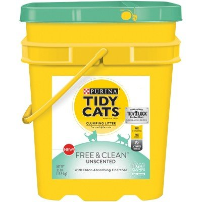 Tidy Cats Free & Clean Unscented Cat Litter - 35lb