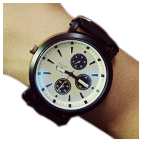 Unisex Reloj - SODIAL(R)Moda Unisex Hombre Mujer Pareja Reloj Cuarzo Analogico De Pulsera Regalo Blanco: Amazon.es: Relojes