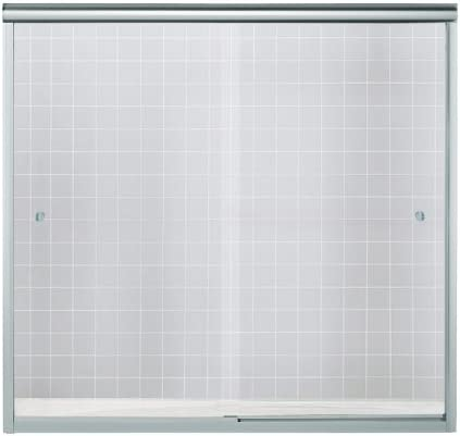 Sterling 5427 59s G05 Finesse Bath Door Bypass 55 1 2 H X 54 5 8 59 5 8 W Clear Glass Silver Shower Doors