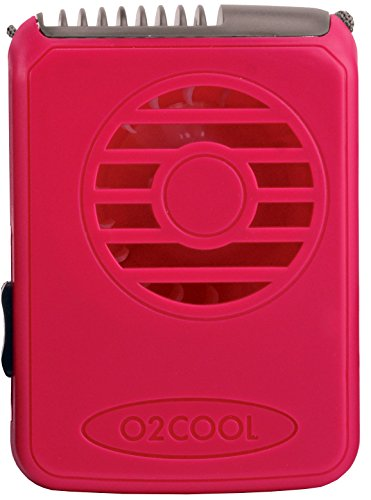 O2COOL Deluxe Necklace Fan, Raspberry