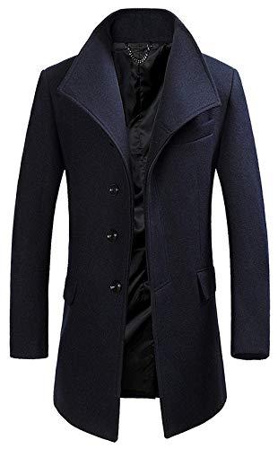 Parka Parka Parka 1 Uomo Jacket Jacket Jacket Jacket Uomo Betrothales Donna Antivento in Cappotto grau Cappotto Giubbotto Giacca Lana Lungo Sottile 6EFqFPxnA