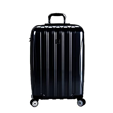 Delsey Luggage Helium Aero 25 Inch Expandable Spinner Trolley (One size, Black)