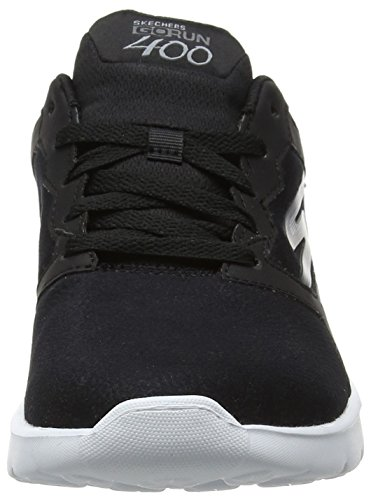 White Entrenamiento Run para Motivate Mujer Skechers Black de Zapatillas Performance 400 Negro Go wFfRwxq7A0