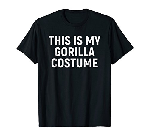 This Is My Gorilla Costume Funny Halloween T-shirt -