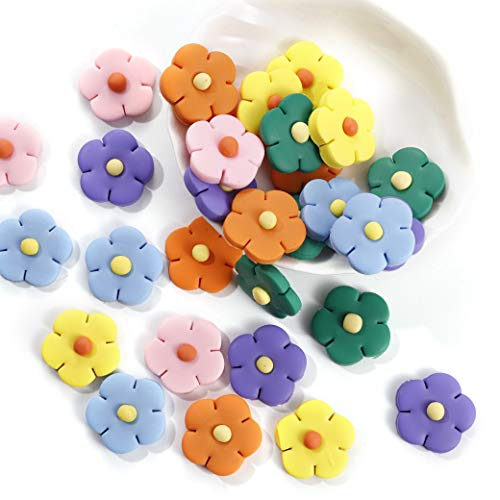 Baby Set Charms - Slime Charms Flowers Set - ANPHNIE 2019 New Candy Charms for Slime, Baby Daisy Flower Flat Back Resin Cabochons for Craft Making, Hair Accessories, Ornament Scrapbooking DIY Crafts, 30pcs