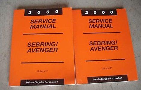 2000 Chrysler Sebring Dodge Avenger Service Manual Set (2 volume service manual ()