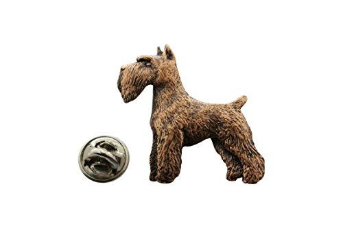 Schnauzer Pin ~ Antiqued Copper ~ Lapel Pin ~ Sarah's Treats & (Schnauzer Pin)