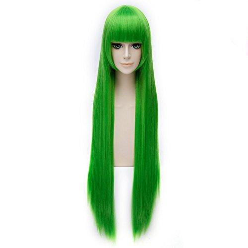 [FOCUS-COSTUME Code Geass CC Green Wig Hairpiece Cosplay] (Cc Code Geass Costumes)