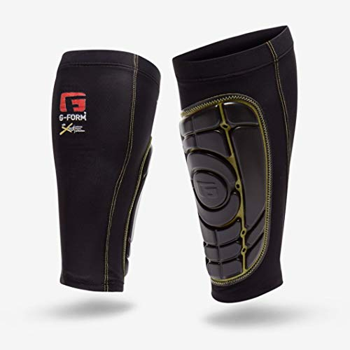 G-Form Pro-S Elite Shin Guards, Black/Yellow, Large