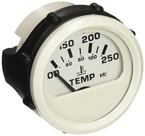 Faria Oil - Faria 13110 Water Temperature Gauge - 100-250° F, Dress White