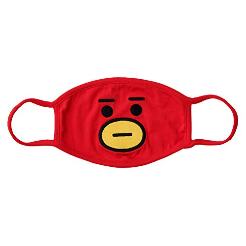 BT21 Official Merchandise by Line Friends - TATA Character Unisex Cotton Face Anti Dust Mask for Breathing and Pollution
