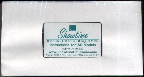 Showtime Rotisserie & BBQ Oven Instructions for All Models (Barbecue Countertop)