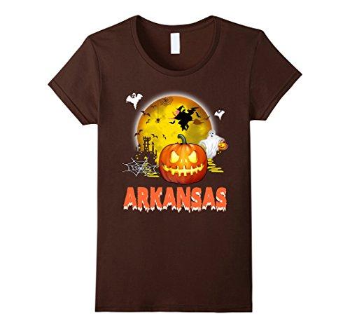 Womens Arkansas Halloween Tshirt Medium Brown