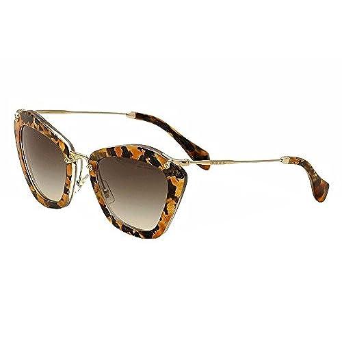 bb7d686741f durable modeling Miu Miu 10NS DHF0A7 Marbleized Caramel 10NS Noir Cats Eyes  Sunglasses Lens Cate