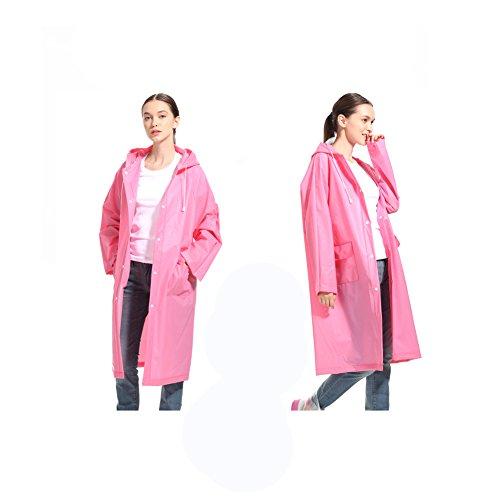LvDD Raincoat Durable EVA Rain Cape Unisex Men Women Rain Poncho with Hat Hood for Outdoor Travel, 44