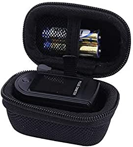 Hard Storage Case for Fingertip Pulse Oximeter Blood Oxygen Saturation Monitor by Aenllosi (Black)
