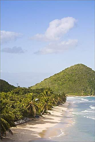 robertharding 12x8 Print of Two Women Walking on The Sandy Beach on Long Bay, Tortola, British Virgin (4264937)