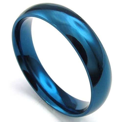 [Bishilin Stainless Steel Fashion Men's Rings Blue Width 5mm Size 13] (The Real Batman Costume For Sale)