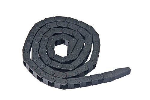 1m Black Plastic Drag Chain Cable Carrier for CNC Router Mill (7mm x 7mm) by Generic