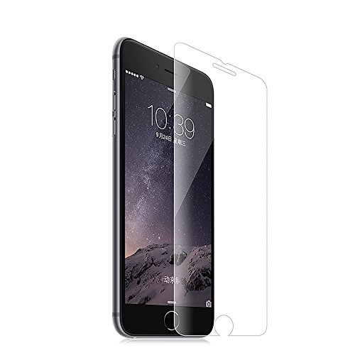 iPhone 7 Plus Screen Protector Pinhen HOCO Coverage Tempered Glass Screen Protector with Anti-Fingerprint/Smooth Touch/Eye Protection Matt Back Film for Apple Iphone 7 Plus (iPhone7 Plus Transparent)