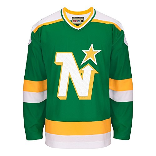 494bc687 adidas Minnesota North Stars CCM NHL Men's Team Classic Authentic Green  Jersey from adidas