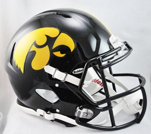 NCAA Riddell Iowa Hawkeyes Revolution Speed Full-Size Authentic Football Helmet