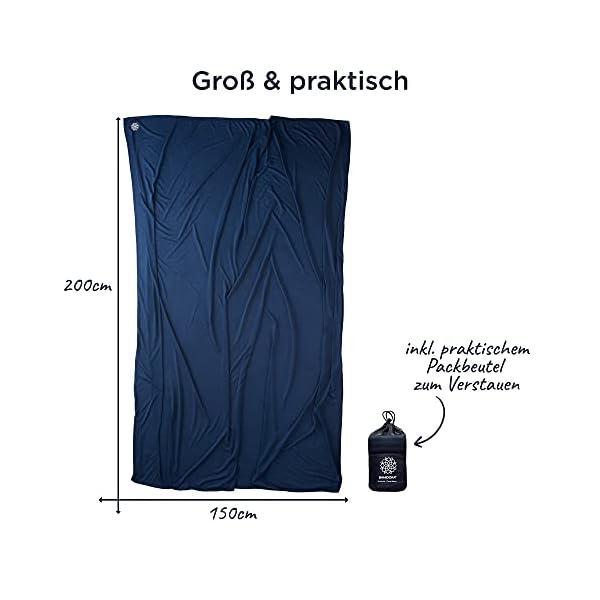 41T0XFyD8hS Bahidora Reisedecke. 200x150cm. Ultraleichte dünne Decke aus Coolmax Material - ideal für Reisen. Geringes Packmaß…